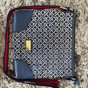 Tommy Hilfiger Navy and White/Grey Cross Body Bag